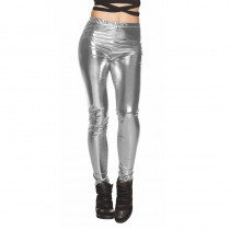 LEGGING DISCO ARGENT ADULTE