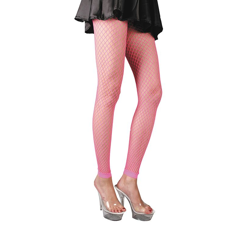 LEGGING EN RÉSILLE ROSE FLUO ADULTE