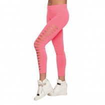 LEGGING TROUÉ ROSE FLUO ADULTE