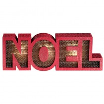 LETTRES NOËL LUMINEUSES ROUGE 24,5X3X8,5