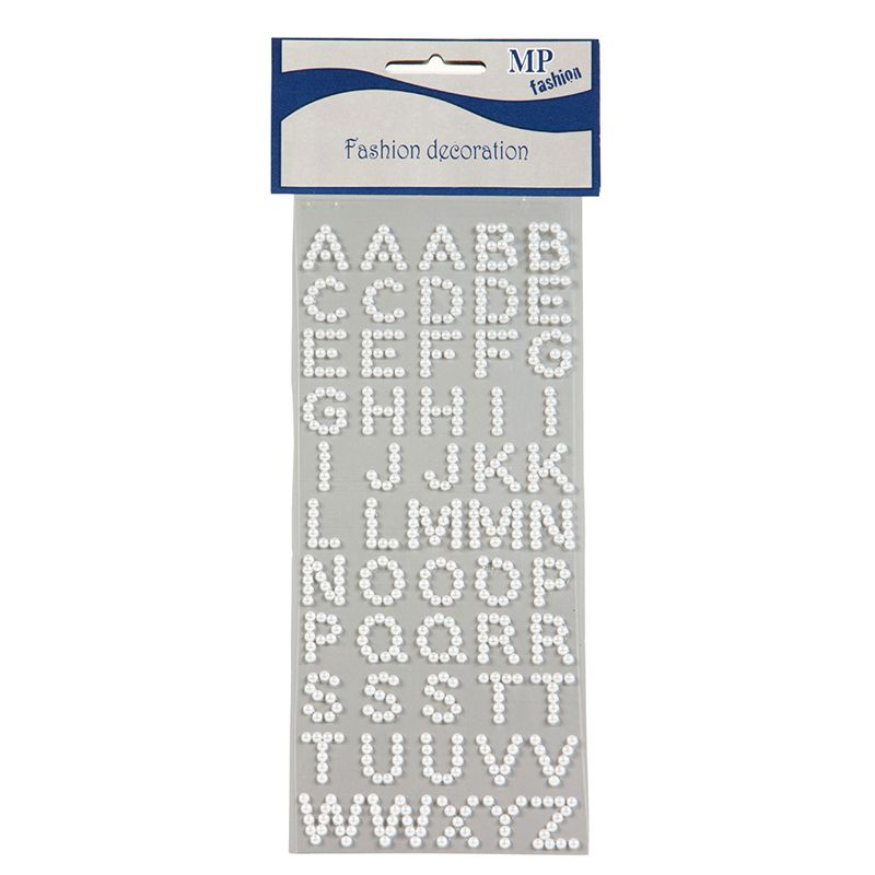 LETTRES PERLES BLANCHES STICKERS