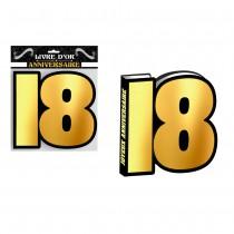 LIVRE D\'OR HOMME 18 ANS