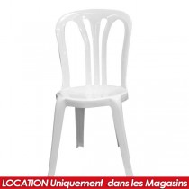 LOCATION CHAISE EN PVC HAITI BLANCHE