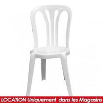 LOCATION CHAISE EN PVC HAITI BLANCHE