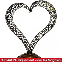 LOCATION COEUR A POSER METAL COURBE
