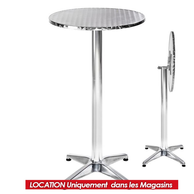 LOCATION TABLE MANGE DEBOUT DIAM 85 CM