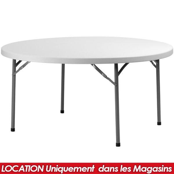 LOCATION TABLE PLIANTE PVC RONDE 152CM