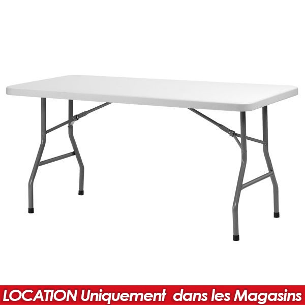 location table pvc pliante 183 x 76 cm. Black Bedroom Furniture Sets. Home Design Ideas