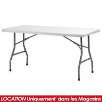 LOCATION TABLE PVC PLIANTE 183 X 76 CM