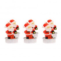 LOT DE 6 BOUGIES PERE NOEL 6 CM