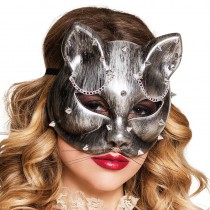 LOUP CHAT ARGENTÉ STEAMPUNK ADULTE