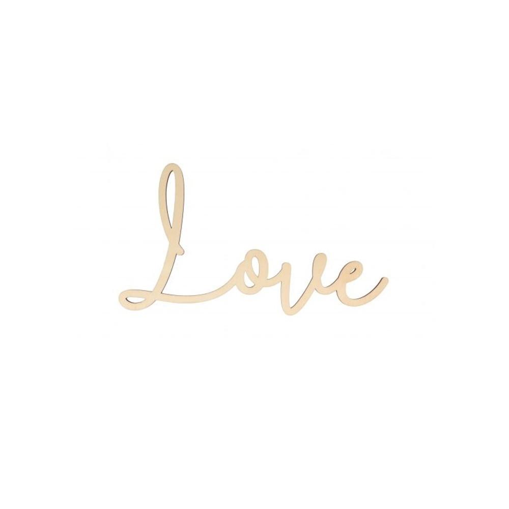 LOVE BOIS 30X16,5X0,5CM