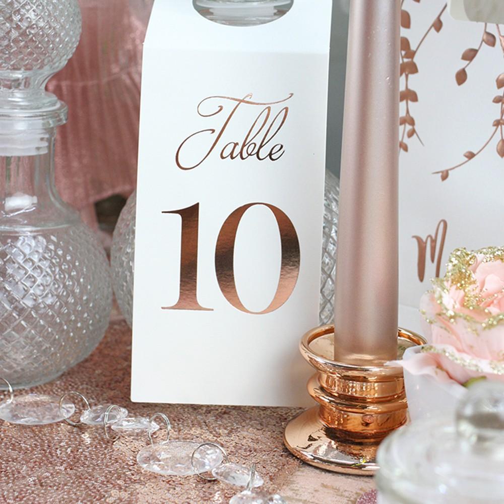 MARQUE TABLES BOUTEILLE 1 À 10 7X20.5CM ROSE GOLD