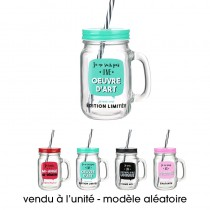 MASON JAR JE SUIS 45CL - 4 ASS