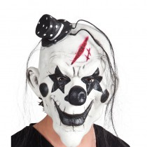 MASQUE CLOWN CHAPEAU LATEX