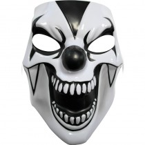 MASQUE CLOWN DE L\'ENFER NOIR ET BLANC