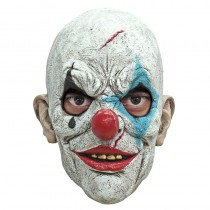 MASQUE INTÉGRAL CLOWN LARME LATEX