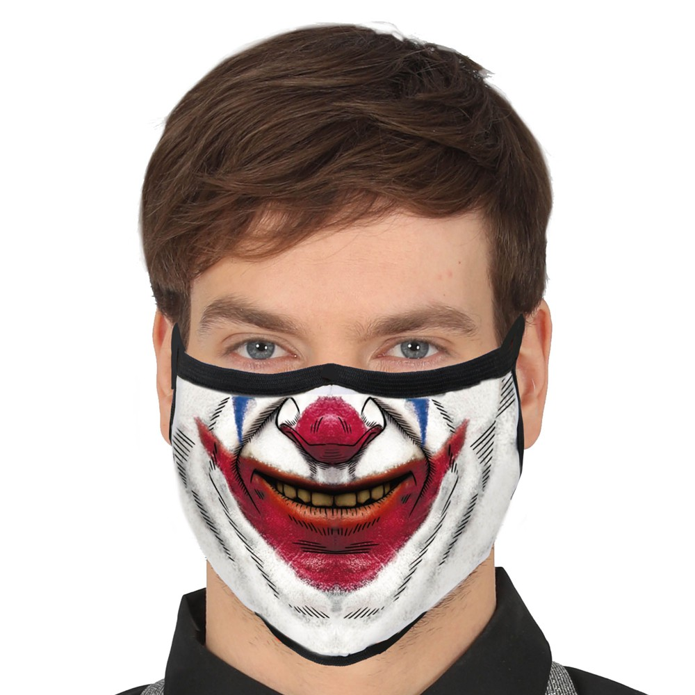 MASQUE PROTECTION LAVABLE CLOWN ADULTE