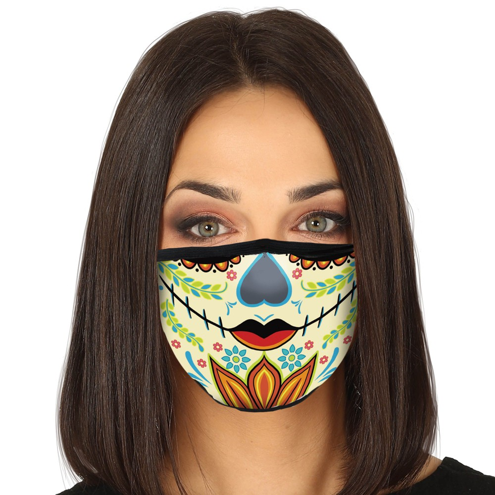 MASQUE PROTECTION LAVABLE DÍA DE MUERTOS ADULTE