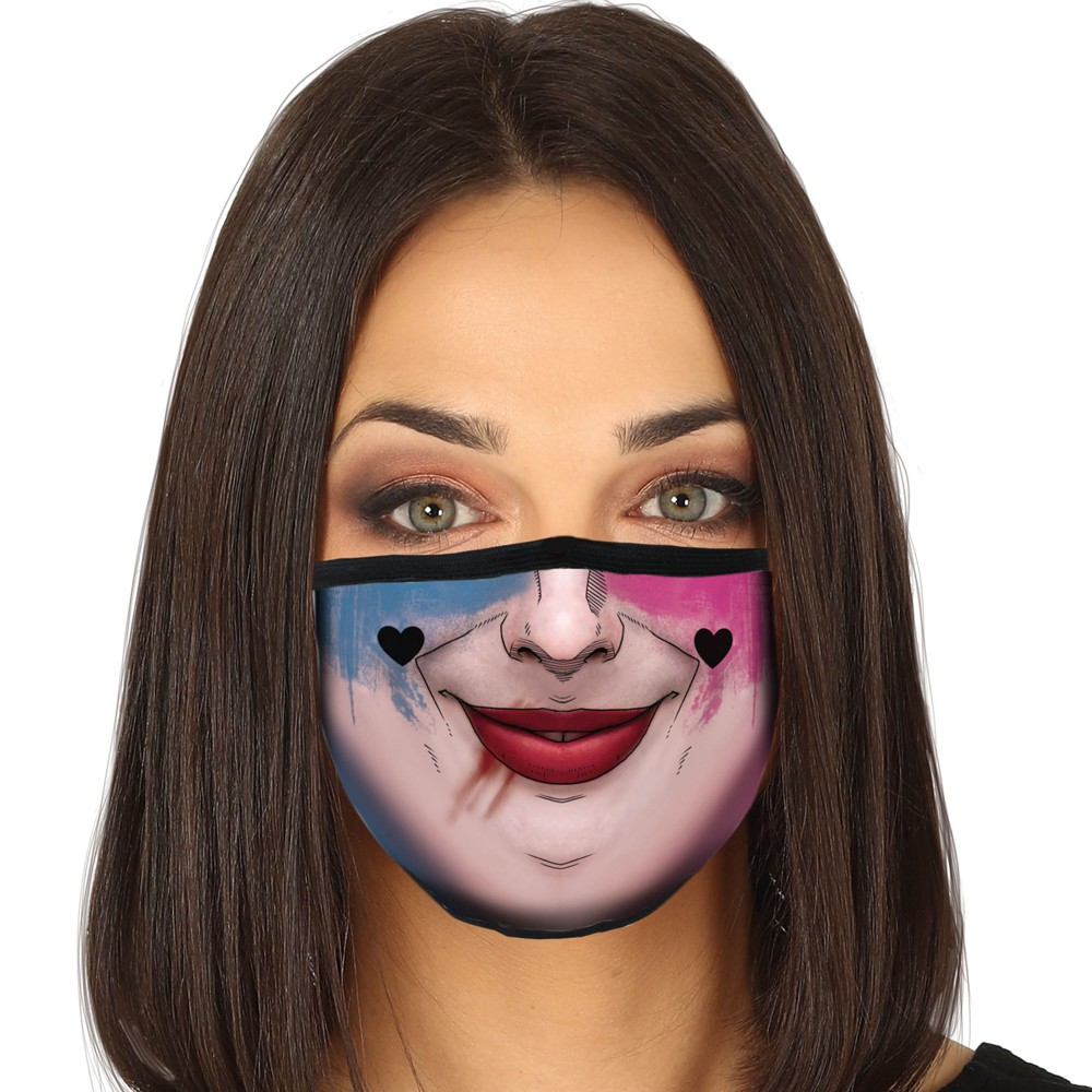 MASQUE PROTECTION LAVABLE HARLEY QUINN ADULTE