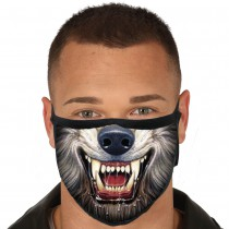 MASQUE PROTECTION LAVABLE LOUP-GAROU ADULTE