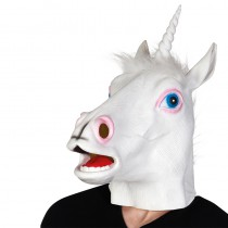 MASQUE TÊTE LICORNE EN LATEX ADULTE