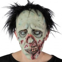 MASQUE ZOMBIE CHEVEUX LATEX ADULTE