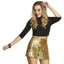 MINIJUPE STRETCH SEQUINS OR