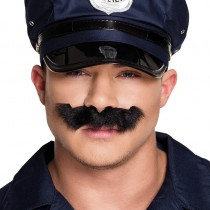 MOUSTACHE NOIRE DE POLICIER