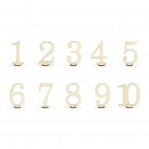 NUMÉROS DE TABLE 1 À 10 BOIS 10,5CM