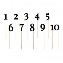 NUMÉROS DE TABLE 1 À 10 NOIR 24-26CM