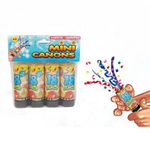 PACK 4 CANONS À CONFETTI 18 ANS