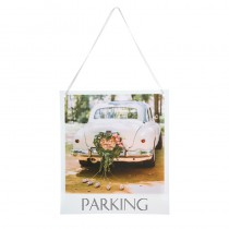 PANCARTE MARIAGE INDICATION PARKING