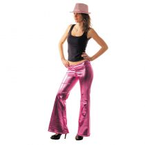 PANTALON DISCO ROSE ADULTE