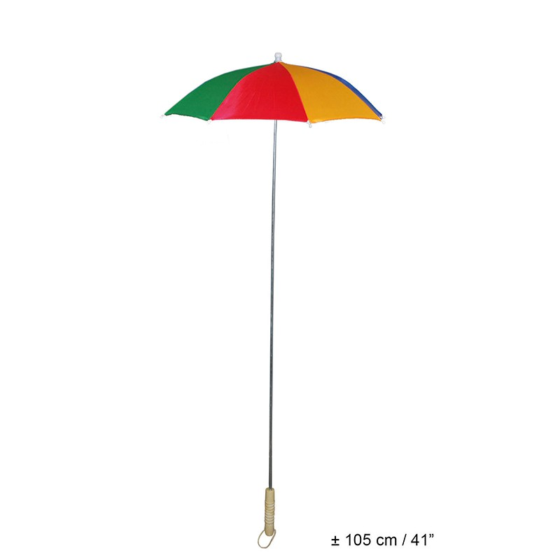 PARAPLUIE MULTICOLORE CLOWN 105CM