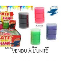 PÂTE SLIME BARIL NÉON 40GRS 6 COLORIS