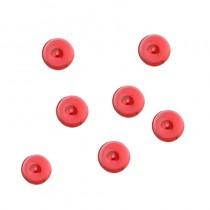 Décoration perles de pluie rouges 7 mm