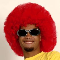 PERRUQUE AFRO - ROUGE