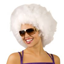 PERRUQUE AFRO BLANCHE