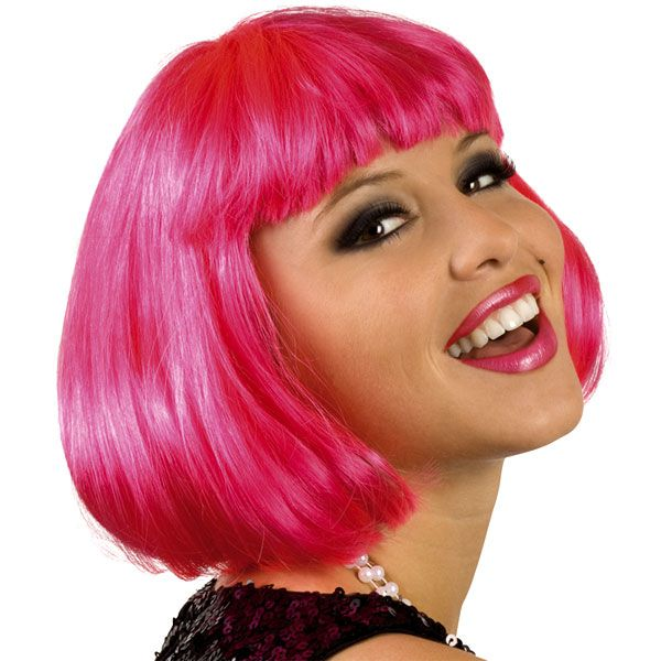 PERRUQUE CABARET HOT PINK