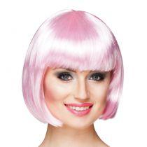Perruque cabaret rose clair