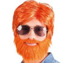 Perruque orange homme