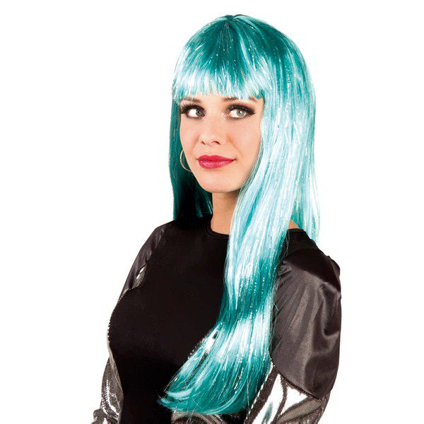 PERRUQUE GLAMOUR TURQUOISE