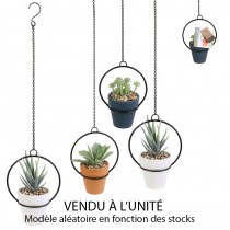PLANTE ARTIFICIELLE 12CM AVEC SUSPENSION EN MÉTAL