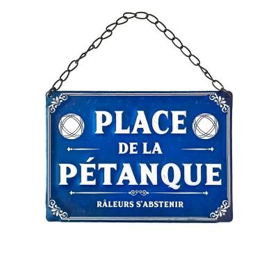 PLAQUE MÉTAL PLACE DE LA PÉTANQUE