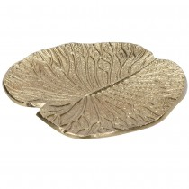 PLAT FEUILLE OR 16CM