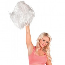 POMPON BLANC CHEERLEADER SUPPORTER