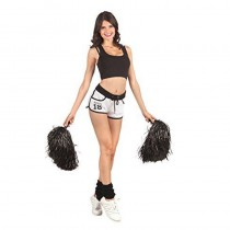 POMPON NOIR CHEERLEADER SUPPORTER