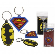 PORTE CLÉ CAOUTCHOUC SUPERMAN BATMAN