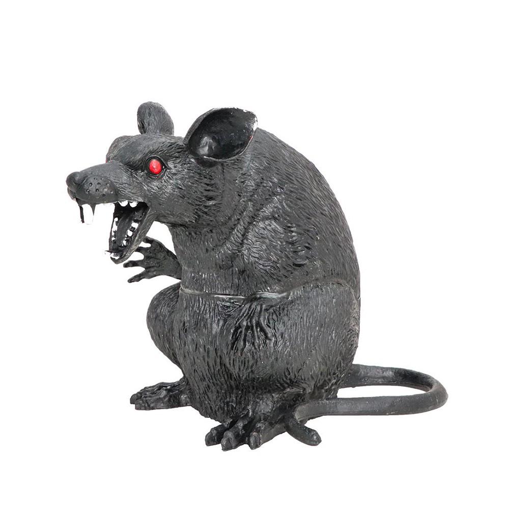 RAT NOIR MÉCHANT 22X12X19 CM